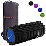 SmarterLife Foam Roller Massager for Myofascial Trigger Point Therapy | Massage Roller for Sore Muscles, Pre and Post Workout, Recovery, Yoga, Pilates, Cycling and Running (Black)