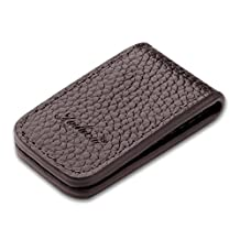 Insten Genuine Leather Magnetic Money Clip , Brown