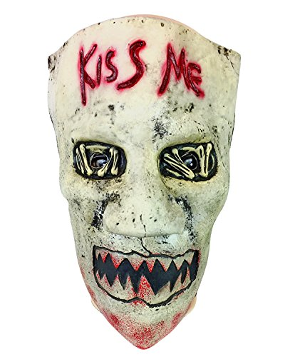 (Kiss Me Mask Latex Rubber, Fancy Dress, Election Halloween Horror, Purge)