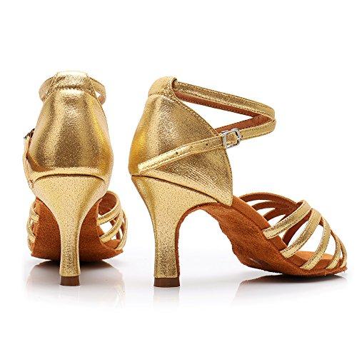 Raso Alta Scarpe 75inch da qualità Scarpe 213 di da Sala Latino Ballo LP Ballo per oro 7 Donna da Tacchi 2 HROYL Ballo in xCO1zPPq