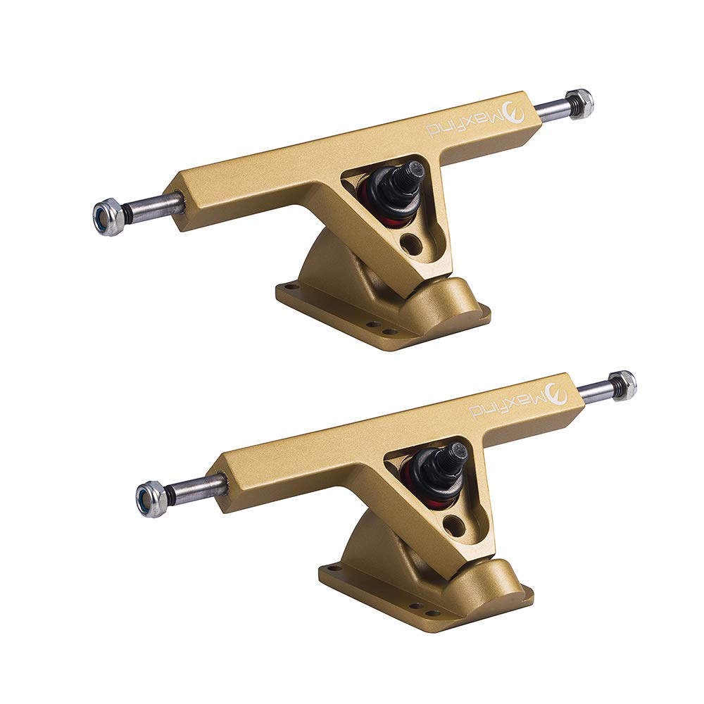 Maxfind Professional Skateboard Truck High Performance Standard Truck,7'' 175MM 40 Degree(3 Colors) (Gold Set of 2) by Maxfind