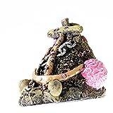 "Anchors Wreckage Cave 5.5"" Aquarium Ornament decoration fish tank shell Starfish"