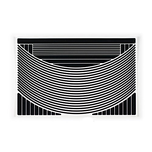 RydeSafe Reflective Decals Rim Wrap+ Kit, Black