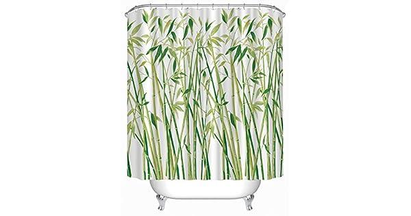 Amazon.com: moldiy cortina de ducha (poliéster con Printed ...
