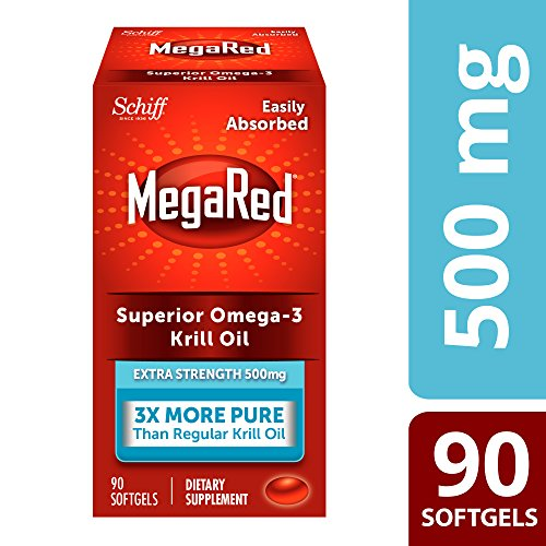 Omega-3 Fish Oil 500mg - Megared Extra Strength 90 softgels - Krill Oil No fishy aftertaste by Megared (Image #3)