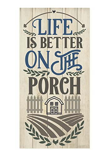 Cheap Life is Better On The Porch Rustic Pallet Style Wood Wall Sign 9×18