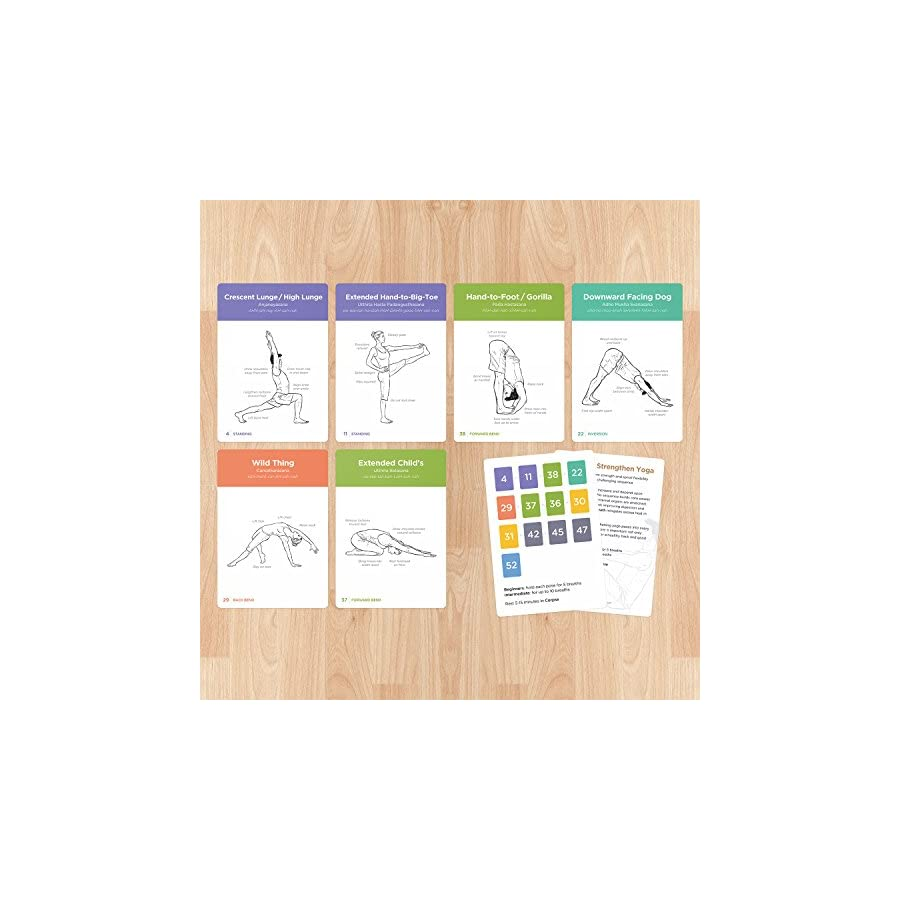 WorkoutLabs YOGA CARDS II – Intermediate: Premium Visual Study, Class Sequencing & Practice Guide Vol. 2 · Plastic Flash Cards Deck with Sanskrit