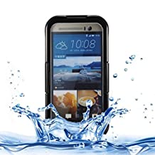 For cellphone Cases, For HTC One M7 / M8 / M9 IPX8 Waterproof PVC Transparent Silicone Case with Lanyard ( Color : Black )