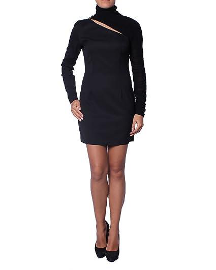 Pierre Balmain Womens Short Turtleneck Dress Black M Fr40