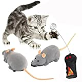 Gearmax Two-Channel Remote Control RC Mouse Mice Remote Controller Flocking Toy (Grey)