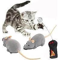 Cisixin Elektrische Drahtlose Fernbedienung Ratte Maus Spielzeug Haustier Katzen Spielzeug Maus für Haustiere