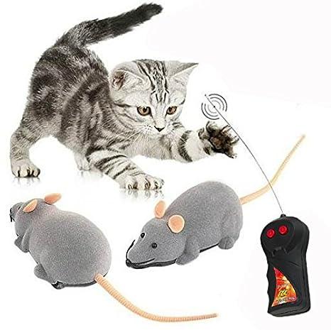 Cisixin Telecomandato Ratto Giocattolo Per Gatto Domestico Giochi