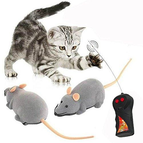 Cisixin Elektrische Drahtlose Fernbedienung Ratte Maus Spielzeug Haustier Katzen Spielzeug Maus für Haustiere, 11,15in