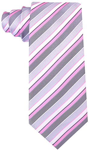 Striped Ties for Men - Woven Necktie - Pink by Scott Allan Collection (Image #1)