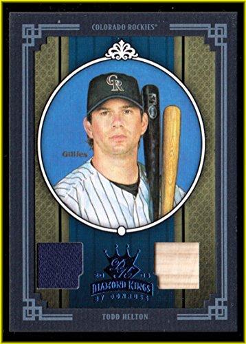 2005 Diamond Kings Materials Framed Blue #342 Todd Helton BAT JERSEY #d 45/50 (Framed Todd Helton)