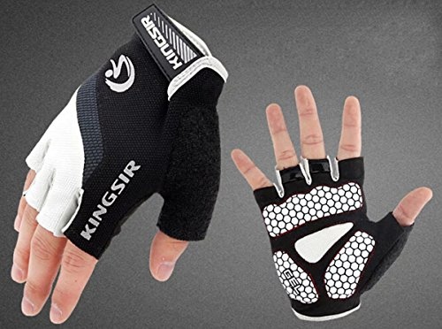 Blanc Route Cyclisme Silicone Gloves Pad Bleu Racing Finger Moiti¨¦ Bicycle V¨¦lo Montagne Gants De Gel RfIwfS6q
