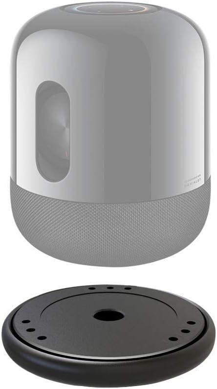 giokfine Professional Sound Isolation Platform Damping Recoil Pad for Homepod for  Echo Home Stabilizer Smart Speaker Riser Base Black