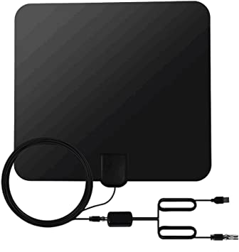 Zenoplige Antena para TV Digital de TDT y HD par Interior HDTV, 50 Millas de Distancia, con Amplificador de Señal USB, 13ft Cable Coaxial, Color Negro: Amazon.es: Electrónica