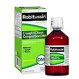 Robitussin Peak Cold Adult Cough + Chest Congestion DM (12 fl. oz. Bottle), Non-Drowsy, Cough Suppressant & Expectorant