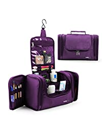 Lavievert Toiletry Bag / Makeup Organizer / Cosmetic Bag / Portable Travel Kit Organizer Bag/ Household Storage Pack / Bathroom Storage For Hanging- Purple
