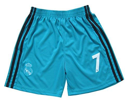 2017 2018 Real Madrid RONALDO  7 Third Black Soccer Kids Jersey   Short    Sock   Soccer Bag Youth Sizes 38900868c