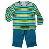 Zutano Little Boys' Multistripe Long Sleeve Tee And Terry Pant Set