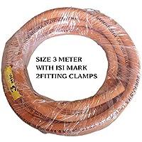 Pooja ecommerce Suraksha Gas Hose Pipe (Orange, 3 m)