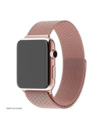 Apple Watch Band Padgene Milanese Loop Stainless Steel Strap Bracelet for Apple iWatch Sport & Edition 42mm All Models with Unique Magnet Lock No Buckle Needed (rose gold)