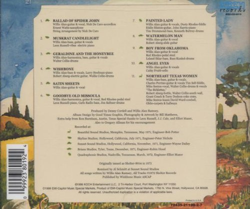 Willis Alan Ramsey by Koch Records