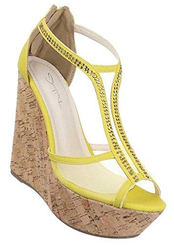 Damen Sandalen Gelb gelb Gelb gelb Größe 38 Linzi Freie ... ffc1945973