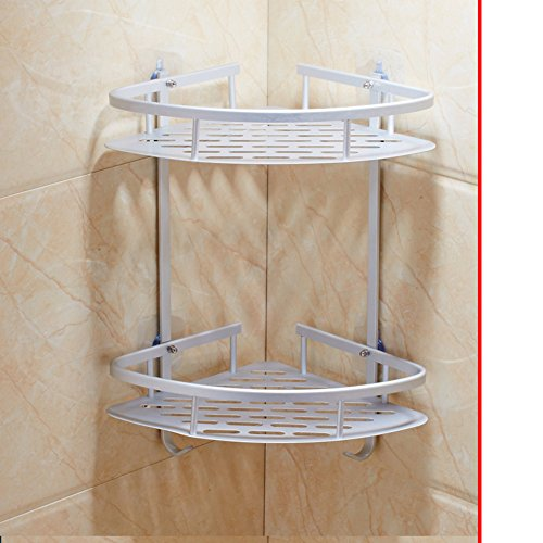 punch-free bathroom rack/Suction-cup nail-free rack/ wall-mounted three-tier bathroom corner rack-D
