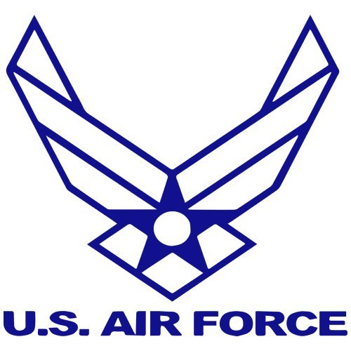 Set of 3 - United States Air Force Symbol Decal Sticker Color: Blue- Peel and Stick Vinyl Sticker