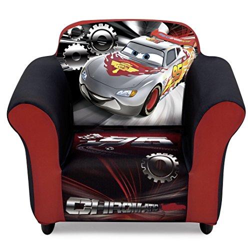 Delta Children Plastic Frame Upholstered Chair, Disney/Pixar - Mcqueen Frame