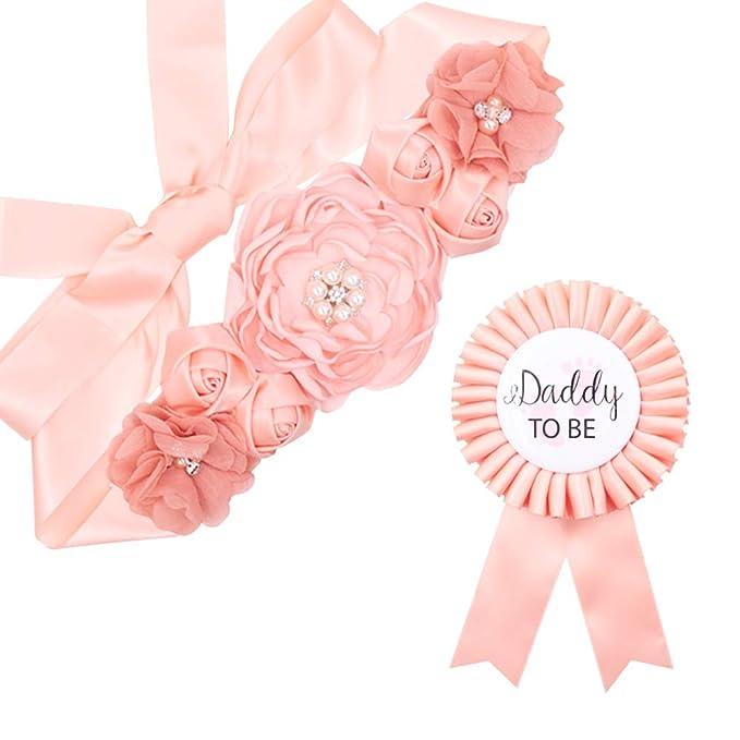 Maternity sash set red 184