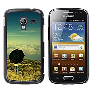 LECELL--Funda protectora / Cubierta / Piel For Samsung Galaxy Ace 2 I8160 Ace II X S7560M -- Umbrella Thought Deep Meaning Sky --