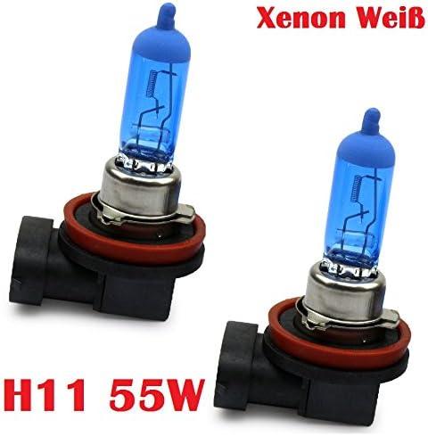 Halogen Scheinwerferlampe Xenon Weiss Nebellampe Glühlampen Für Nebelscheinwerfer 12volt Zugelassen Im Bereich Der Stvzo Inion 2x H11 55w Auto