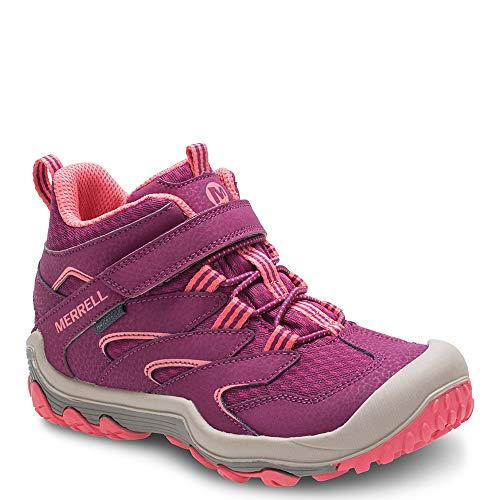 (Merrell Chameleon 7 Access Mid A/C Waterproof Boot Big Kid 1.5 Berry/Coral)
