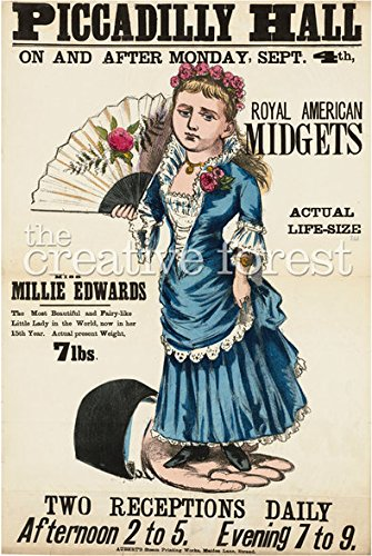 Royal American Midgets Vintage Freak Show Poster Rolled Canvas Giclee Print 24x34 Inches