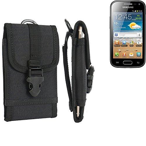 bolsa del cinturón / funda para Samsung Galaxy Ace 2, negro   caja del teléfono cubierta protectora bolso - K-S-Trade (TM)