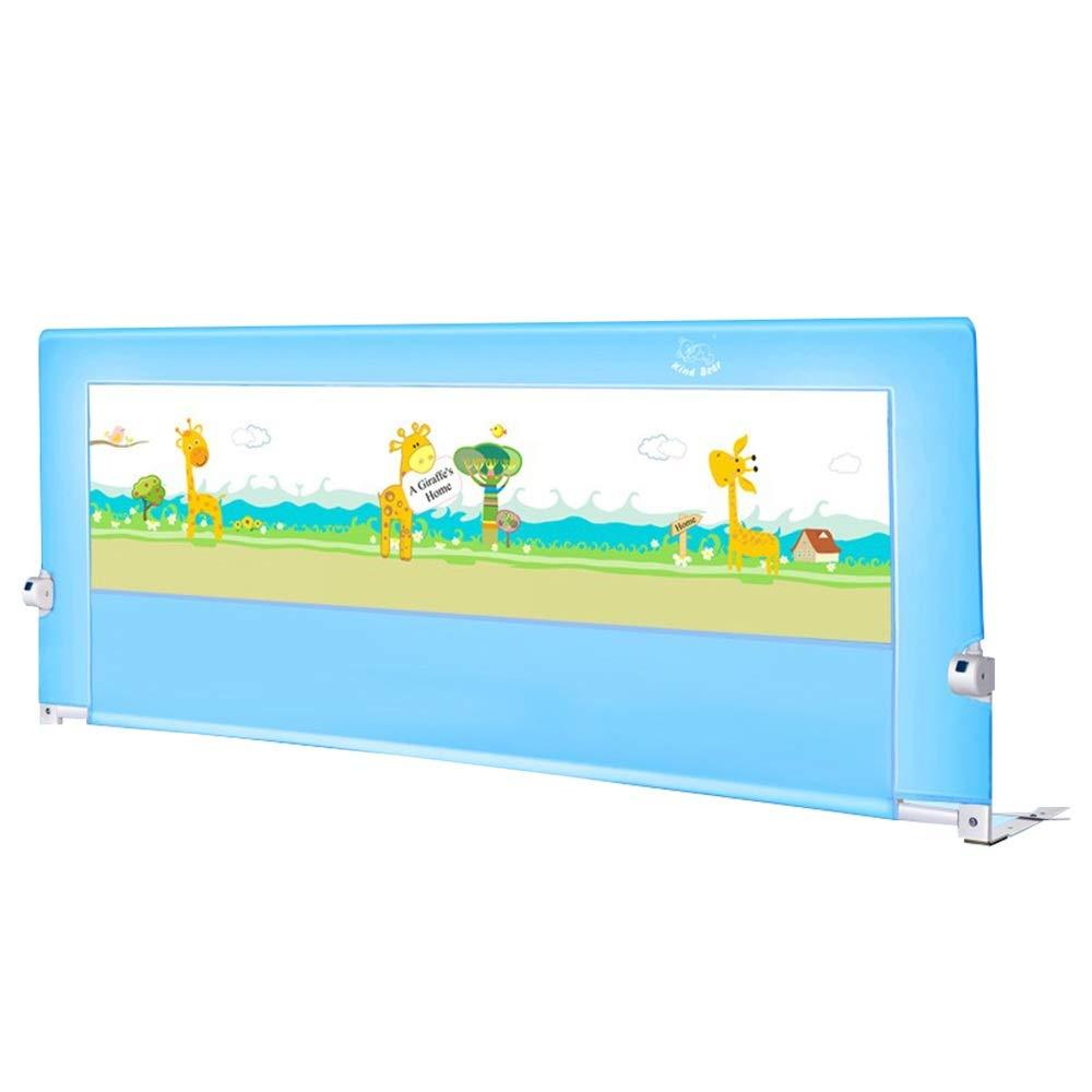XIAOMEI,ベッドフェンス 安全第一ベッドレール用幼児用ポータブル折りたたみベッドガード保護安全幼児子供垂直持ち上がるベッドガード安全保護ガード 家庭、屋外で使用されます (Color : Blue, Size : 150cm) 150cm Blue B07SHXP8ZK