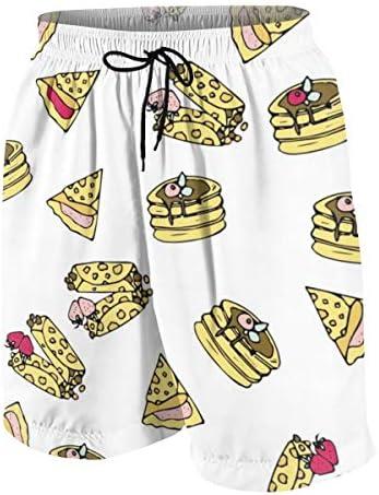 キッズ ビーチパンツ スイーツ おいしい食べ物 サーフパンツ 海パン 水着 海水パンツ ショートパンツ サーフトランクス スポーツパンツ ジュニア 半ズボン ファッション 人気 おしゃれ 子供 青少年 ボーイズ 水陸両用