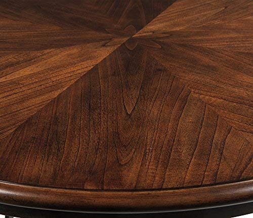 Ashley Furniture Signature Design - Centiar Dining Room Table - Mid Century Modern Style - Round - Rustic Brown by Signature Design by Ashley (Image #3)