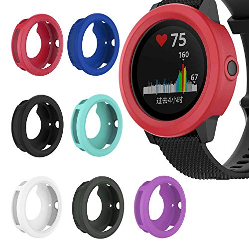 StrapsCo Silicone Rubber Protective Case Cover Compatible with Garmin Vivoactive 3