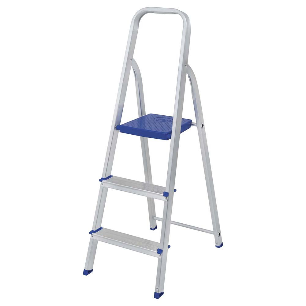 MOR Aluminum 3 Steps Ladder with 265 lbs. Load Capacity Type I Heavy-duty