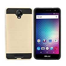 BLU Studio XL2 Case / BLU Studio XL 2 Case S0270UU Case Tough Hybrid Armor Shock Dual Layer Resistance Proof Case Cover (VGC Gold)