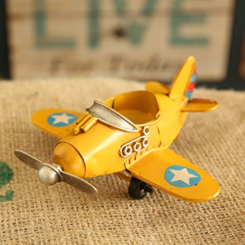 Wall of Dragon Model Home Decor Iron Plane Model Iron Aircraft Glider Biplane Pendant Airplane Figurines Status Metal Plane by Wall of Dragon (Image #3)