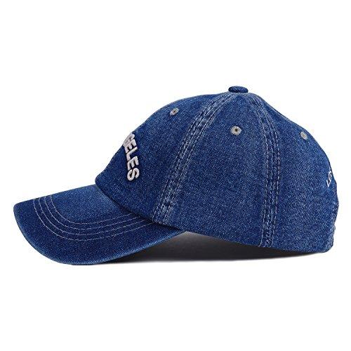 d1b52b84a63 Choomon Unisex Denim Baseball Cap Adjustable Strap Buckle ...