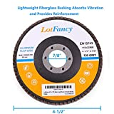 "120 Grit Sanding Flap Discs by LotFancy, 4.5"" x"