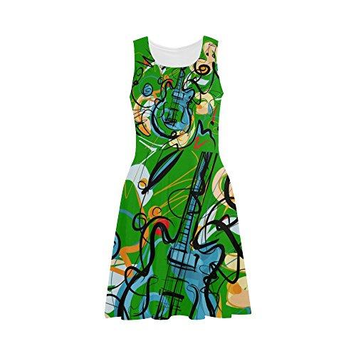 Abbie Miller Graffiti Pattern Women's Elegant Polyester Sundress (Nasty Graffiti)