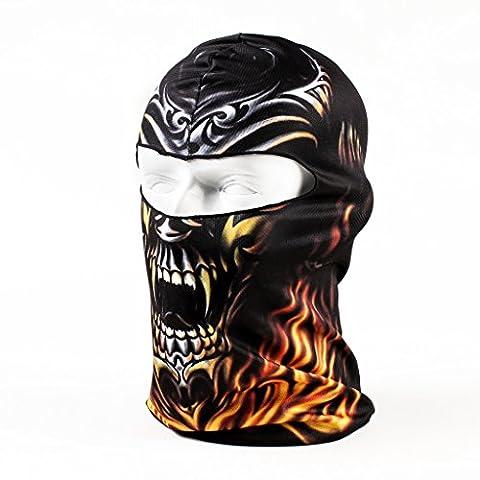 Maoko Camo Sports Thin UV Protective Windproof Face Mask- Motorcycle Cycling Skull Balaclava - Full Zip Hockey Hoody